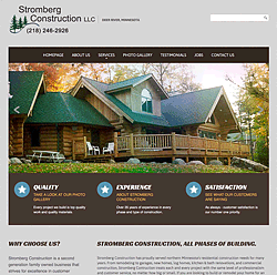 Stromberg Construction in northern Minnesota